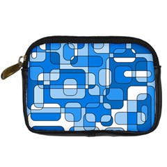 Blue Decorative Abstraction Digital Camera Cases by Valentinaart