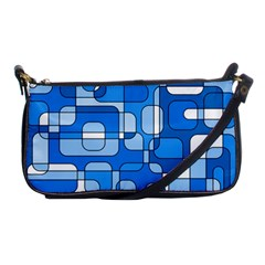 Blue Decorative Abstraction Shoulder Clutch Bags by Valentinaart