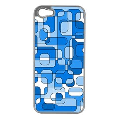 Blue Decorative Abstraction Apple Iphone 5 Case (silver) by Valentinaart