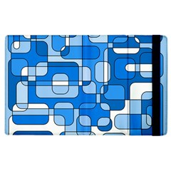 Blue decorative abstraction Apple iPad 3/4 Flip Case by Valentinaart