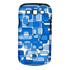 Blue Decorative Abstraction Samsung Galaxy S Iii Classic Hardshell Case (pc+silicone) by Valentinaart