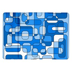 Blue Decorative Abstraction Samsung Galaxy Tab 10 1  P7500 Flip Case by Valentinaart