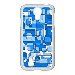 Blue Decorative Abstraction Samsung Galaxy S4 I9500/ I9505 Case (white) by Valentinaart