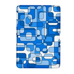 Blue Decorative Abstraction Samsung Galaxy Tab 2 (10 1 ) P5100 Hardshell Case  by Valentinaart