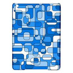 Blue Decorative Abstraction Ipad Air Hardshell Cases by Valentinaart