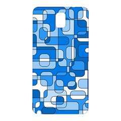 Blue Decorative Abstraction Samsung Galaxy Note 3 N9005 Hardshell Back Case by Valentinaart