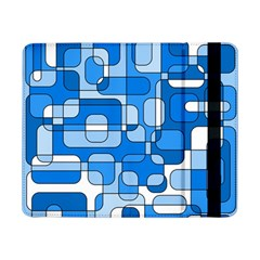 Blue Decorative Abstraction Samsung Galaxy Tab Pro 8 4  Flip Case by Valentinaart