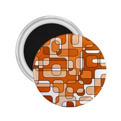 Orange Decorative Abstraction 2 25  Magnets by Valentinaart