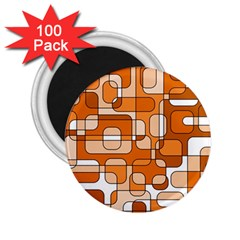 Orange Decorative Abstraction 2 25  Magnets (100 Pack)  by Valentinaart