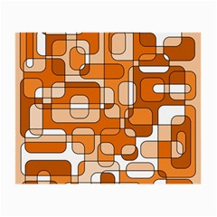 Orange Decorative Abstraction Small Glasses Cloth by Valentinaart