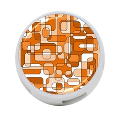 Orange Decorative Abstraction 4 Port Usb Hub (two Sides)  by Valentinaart