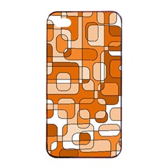 Orange Decorative Abstraction Apple Iphone 4/4s Seamless Case (black) by Valentinaart