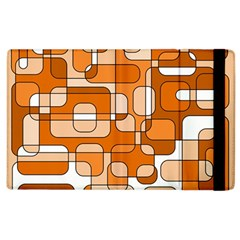 Orange Decorative Abstraction Apple Ipad 3/4 Flip Case by Valentinaart