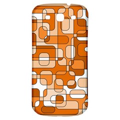Orange Decorative Abstraction Samsung Galaxy S3 S Iii Classic Hardshell Back Case by Valentinaart