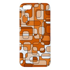 Orange Decorative Abstraction Apple Iphone 5 Premium Hardshell Case by Valentinaart