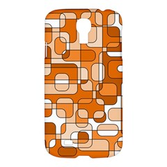 Orange Decorative Abstraction Samsung Galaxy S4 I9500/i9505 Hardshell Case by Valentinaart