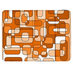 Orange Decorative Abstraction Samsung Galaxy Tab 7  P1000 Flip Case by Valentinaart