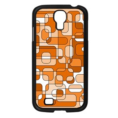 Orange Decorative Abstraction Samsung Galaxy S4 I9500/ I9505 Case (black) by Valentinaart
