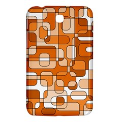 Orange Decorative Abstraction Samsung Galaxy Tab 3 (7 ) P3200 Hardshell Case  by Valentinaart