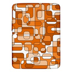 Orange Decorative Abstraction Samsung Galaxy Tab 3 (10 1 ) P5200 Hardshell Case  by Valentinaart