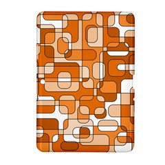 Orange Decorative Abstraction Samsung Galaxy Tab 2 (10 1 ) P5100 Hardshell Case  by Valentinaart