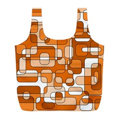 Orange Decorative Abstraction Full Print Recycle Bags (l)  by Valentinaart