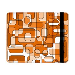 Orange Decorative Abstraction Samsung Galaxy Tab Pro 8 4  Flip Case by Valentinaart