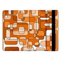 Orange Decorative Abstraction Samsung Galaxy Tab Pro 12 2  Flip Case by Valentinaart