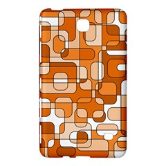 Orange Decorative Abstraction Samsung Galaxy Tab 4 (7 ) Hardshell Case  by Valentinaart