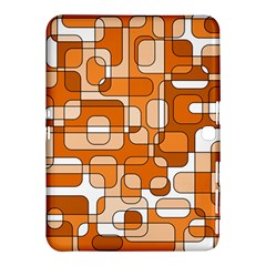Orange Decorative Abstraction Samsung Galaxy Tab 4 (10 1 ) Hardshell Case  by Valentinaart