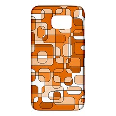 Orange Decorative Abstraction Galaxy S6 by Valentinaart