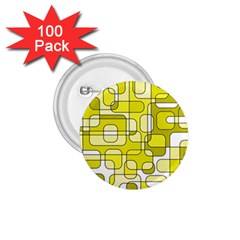 Yellow Decorative Abstraction 1 75  Buttons (100 Pack)  by Valentinaart