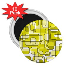 Yellow Decorative Abstraction 2 25  Magnets (10 Pack)  by Valentinaart