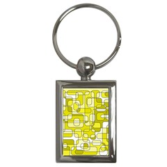 Yellow Decorative Abstraction Key Chains (rectangle)  by Valentinaart