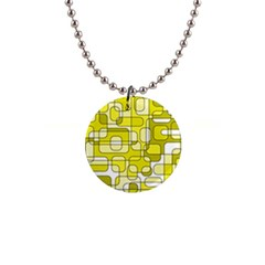 Yellow Decorative Abstraction Button Necklaces by Valentinaart