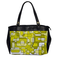 Yellow Decorative Abstraction Office Handbags by Valentinaart