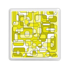 Yellow Decorative Abstraction Memory Card Reader (square)  by Valentinaart