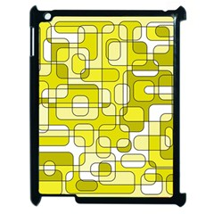 Yellow Decorative Abstraction Apple Ipad 2 Case (black) by Valentinaart