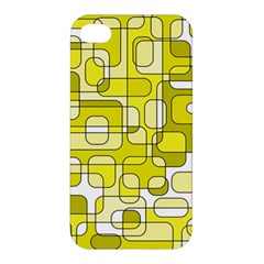 Yellow Decorative Abstraction Apple Iphone 4/4s Hardshell Case by Valentinaart