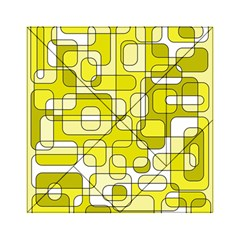 Yellow Decorative Abstraction Acrylic Tangram Puzzle (6  X 6 ) by Valentinaart