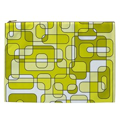 Yellow Decorative Abstraction Cosmetic Bag (xxl)  by Valentinaart