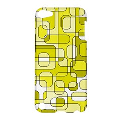 Yellow Decorative Abstraction Apple Ipod Touch 5 Hardshell Case by Valentinaart
