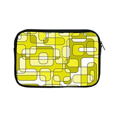 Yellow Decorative Abstraction Apple Ipad Mini Zipper Cases by Valentinaart