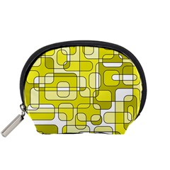 Yellow Decorative Abstraction Accessory Pouches (small)  by Valentinaart