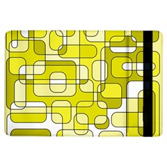 Yellow Decorative Abstraction Ipad Air Flip by Valentinaart