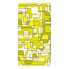 Yellow Decorative Abstraction Galaxy Note 4 Back Case by Valentinaart