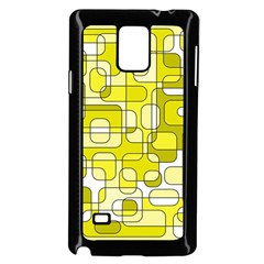 Yellow decorative abstraction Samsung Galaxy Note 4 Case (Black) by Valentinaart