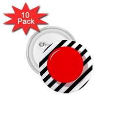 Red Ball 1 75  Buttons (10 Pack) by Valentinaart