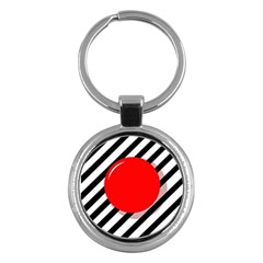 Red Ball Key Chains (round)  by Valentinaart