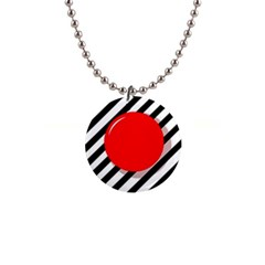 Red Ball Button Necklaces by Valentinaart